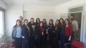 Egesürçed üyeleri ile Yaşar Üniversitesi Hocalarımız ve Meslek Yüksek Okulu öğrencilerimiz Dernek merkezimizde